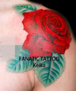 RedRoseTattoo 赤いバラのタトゥー/Keika_FanaticTattoo