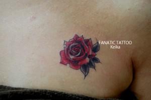 Small Rose Tattoo バラのワンポイントタトゥー/Keika_FanaticTattoo