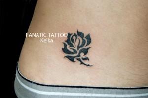 Rose Tribal Tattoo バラのトライバルタトゥー/Keika_FanaticTattoo