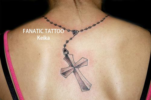 Rosary&Cross Tattoo ロザリオ クロス タトゥー/Keika_FanaticTattoo