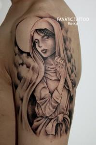 Virgin Mary&Moon Tattoo マリアに三日月のタトゥー/Keika_FanaticTattoo