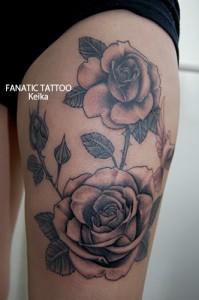 Rose&Dove Tattoo バラとハトのタトゥー/Keika_FanaticTattoo