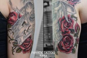 Red Rose Tattoo 赤いバラのタトゥー/Keika_FanaticTattoo