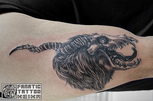 動物の骨タトゥー Animalskull Tattoo /Keika_FanaticTattoo