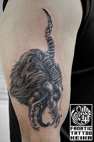 動物の骨タトゥー Animalskull Tattoo /Keika_FanaticTattoo