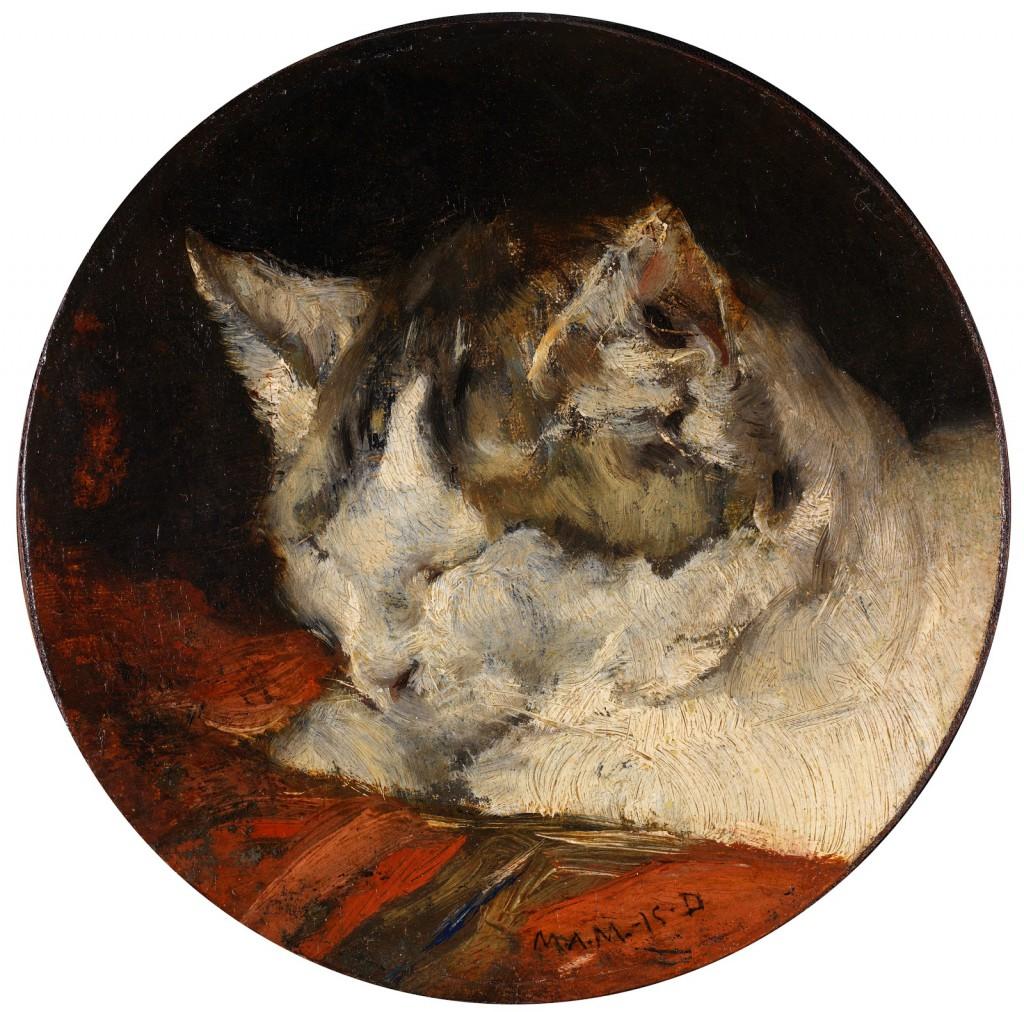 フランシスコ・ドミンゴ・マルケース  『眠る猫の頭部』