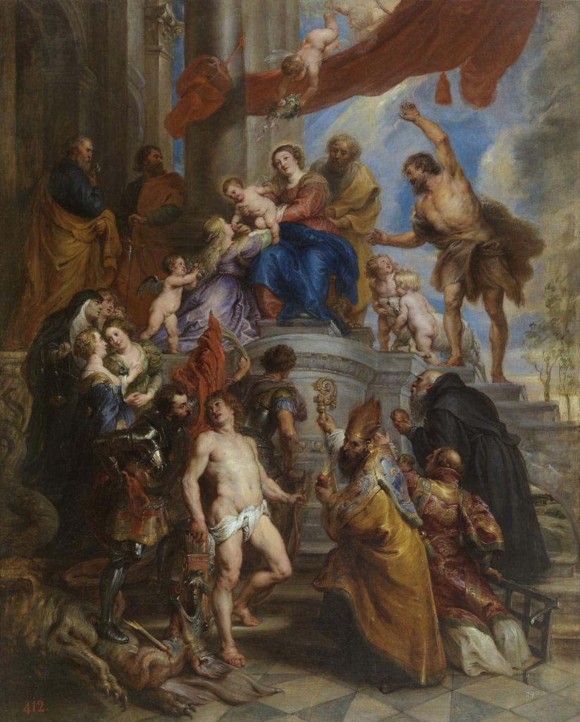 ペーテル・パウル・ルーベンス   『聖人たちに囲まれた聖家族』