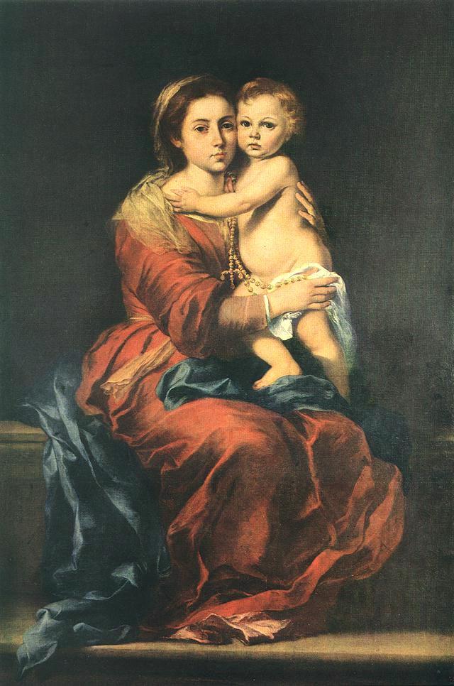 バルトロメ・エステバン・ムリーリョ  『ロザリオの聖母』