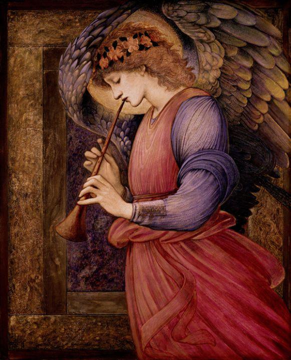 エドワード・コーリー・バーン=ジョーンズ@フラジオレットを吹く天使