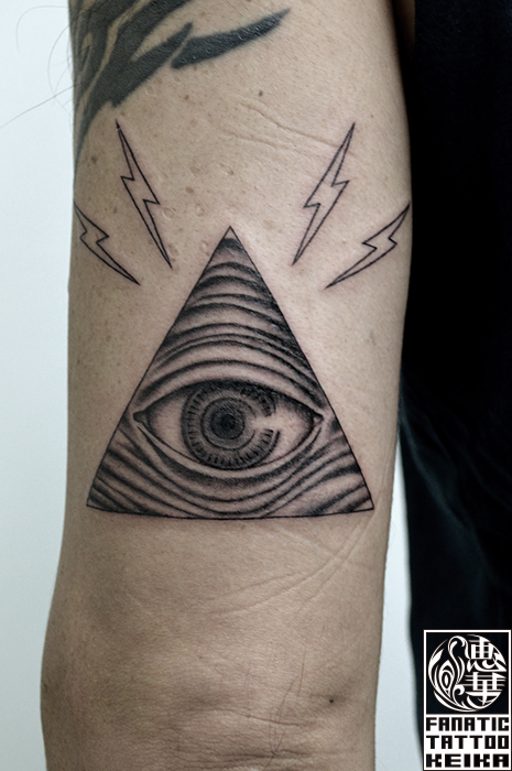 プロビデンスの目のタトゥー Eye of Providence Tattoo /Keika_FanaticTattoo
