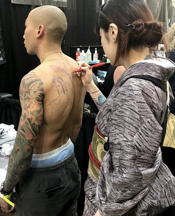 タトゥーイベントと着物