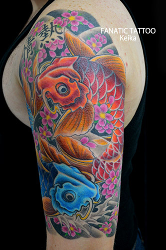 Koi Fish JapaneseTattoo 夫婦鯉の刺青/Keika_FanaticTattoo