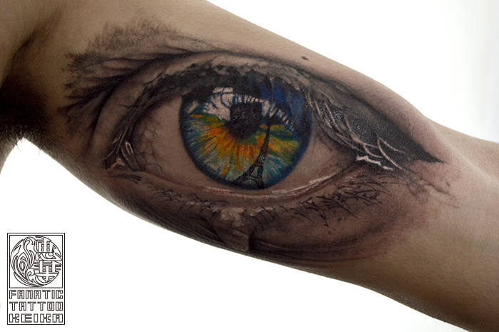 リアルな涙目タトゥー Realistic Crying eye Tattoo/Keika_FanaticTattoo