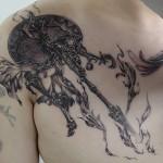 女神アテナのゲームタトゥー Keika_FanaticTattoo