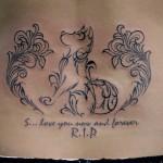 犬 トライバル Dog Tribal tattoo