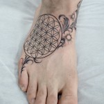 生命の花 円 Flower of Life Tribal tattoo