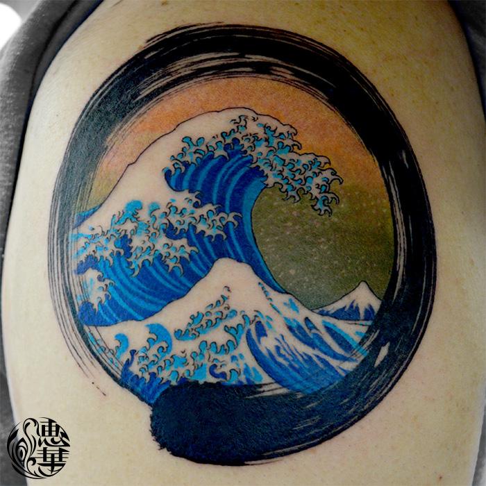 和・波・浮世絵・北斎・水墨画・Ukiyoe・Hokusai