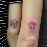 桜のワンポイントタトゥー,Cherryblossom,Tattoo,刺青・タトゥースタジオ 女性彫師 恵華-Keika-