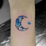 月のワンポイントタトゥー,Moon,Small Tattoo,刺青・タトゥースタジオ 女性彫師 恵華-Keika-