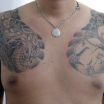 ヘビに猿、ひょうたんに駒の和彫り刺青 – Japanese style Tattoo
