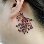 オカメインコのトライバルタトゥー,Cockatiel,Bird,Tribal,Tattoo,刺青・タトゥースタジオ 女性彫師 恵華-Keika-