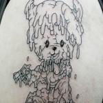 犬のキャラクタータトゥー,Dog Tattoo,刺青・タトゥースタジオ 女性彫師 恵華-Keika-