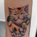 招き猫のタトゥー,Cat,lucky cat,Japanese Tattoo,Tattoo,刺青・タトゥースタジオ 女性彫師 恵華-Keika-