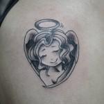 天使のタトゥー,Angel Tattoo,刺青・タトゥースタジオ 女性彫師 恵華-Keika-