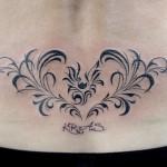コウモリとハートのトライバルタトゥー – Bat,Heart,Tribal,Tattoo