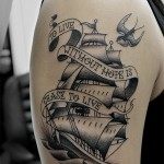 船とツバメのアメリカントラディショナルタトゥー Ship,swallow,American traditional,tattoo 女性彫師 恵華-Keika-