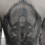 大日如来の和彫り刺青 Buddha Japanesestyle Tattoo,刺青・タトゥースタジオ 女性彫師 恵華-Keika-