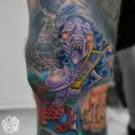 恐怖のセイレーン人魚のタトゥー  Siren Tattoo,女性彫師 恵華-Keika-
