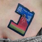 北斎の赤富士タトゥー – Ukiyoe Tattoo