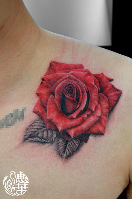 バラのタトゥー,Rose Tattoo,Tattoo,刺青・タトゥースタジオ 女性彫師 恵華-Keika-