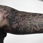 バラのブラック&グレータトゥー – Rose Black&Gray,Tattoo