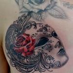 ベネチアンマスクのタトゥー, Venetian Mask,Tattoo,刺青・タトゥースタジオ 女性彫師 恵華-Keika-