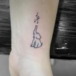 ゾウと音符のワンポイントタトゥー,Elephant,Note,Small TattooTattoo,刺青・タトゥースタジオ 女性彫師 恵華-Keika-