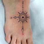 コンパスのトライバルタトゥー – Compass,Tribal Tattoo