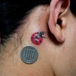 てんとう虫のワンポイントタトゥー,Ladybug,Small Tattoo,Tattoo,刺青・タトゥースタジオ 女性彫師 恵華-Keika-