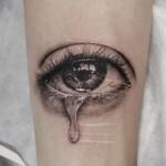 目のブラック&グレータトゥー,Eye,Black&Gray,Tattoo,刺青・タトゥースタジオ 女性彫師 恵華-Keika-