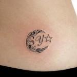 月のトライバルタトゥー,Moon,Tribal Tattoo,Tattoo,刺青・タトゥースタジオ 女性彫師 恵華-Keika-