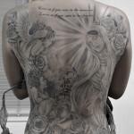 マリア,天使,悪魔,バラのタトゥー – Virgin Mary,Angel,Devil Tattoo