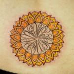 ひまわりのトライバルタトゥー Sunflower Tribal Tattoo,刺青・タトゥースタジオ 女性彫師 恵華-Keika-