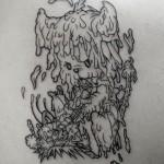 犬のキャラクタータトゥー Dog Tattoo,刺青・タトゥースタジオ 女性彫師 恵華-Keika-