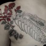 蛇にサルビアのタトゥー – Snake, Salvia Tattoo
