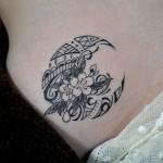 桜と月のトライバルタトゥー CherryBlossom Moon tribal Tattoo タトゥー,刺青,Tattoo,刺青・タトゥースタジオ 女性彫師 恵華-Keika-