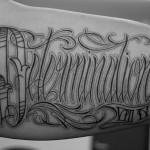 チカーノレターのタトゥー タトゥー,刺青,Tattoo,刺青・タトゥースタジオ 女性彫師 恵華-Keika-