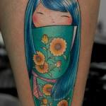 こけしのタトゥー,kokeshi Tattoo,刺青・タトゥースタジオ 女性彫師 恵華-Keika-