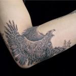 タカのブラック&グレータトゥー,Eagle,Black&Gray,Tattoo,刺青・タトゥースタジオ 女性彫師 恵華-Keika-