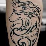 オオカミのトライバルタトゥー,Wolf,Tribal Tattoo,Tattoo,刺青・タトゥースタジオ 女性彫師 恵華-Keika-